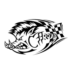 Offroad boar tattoo vector