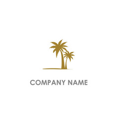 palm tree beach logo vector image