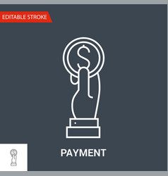 payment icon thin line vector image