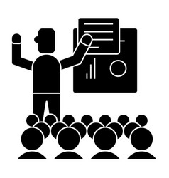 Presentation - meeting - lecture icon vector