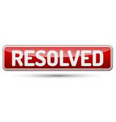 resolved - abstract beautiful button with text vector image