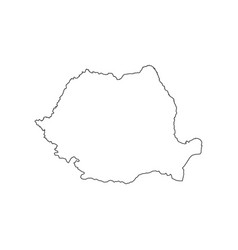 Romania map silhouette vector