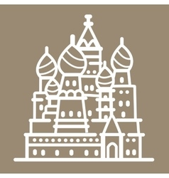 Rusia landmark building line art vector image