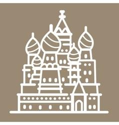 Rusia landmark building line art vector