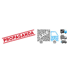 Scratched propaganda line seal with mosaic sale vector