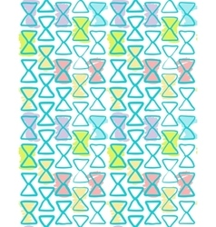 Seamless geometric pattern watercolor color vector