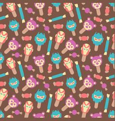 seamless pattern cute style ice cream vector image