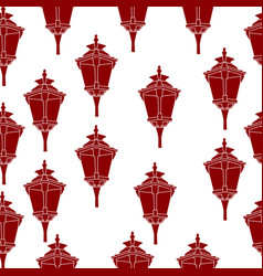 seamless pattern of red lanterns vector image