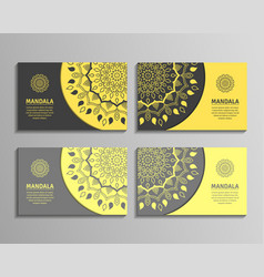sets of mandala business cards vector image