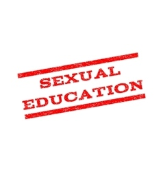 Sexual Education Watermark Stamp vector