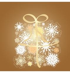 Snowflake gift box vector image