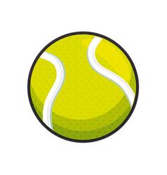 tennis ball sport vector image