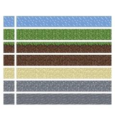 Texture for platformers pixel art - mud vector image vector image