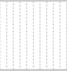 Tile pattern with grey arrows on white background vector