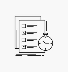 Todo task list check time line icon isolated vector