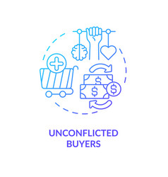 Unconflicted buyers concept icon vector