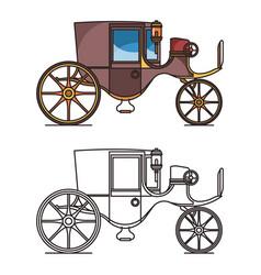vintage automobile or old car xix century cab vector image