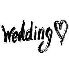 Wedding hand lettering Handmade calligraphy vector image