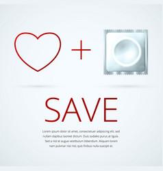 white condom 1 vector image vector image