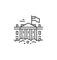 White house line icon vector