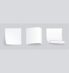 white note sheet paper set with different vector image