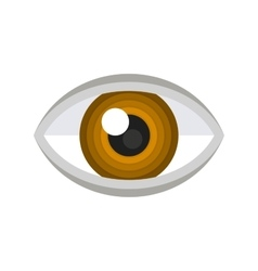 Brown Eye Icon vector image