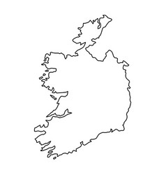 ireland map of black contour curves of vector image vector image
