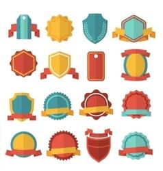Modern flat badges set vector image vector image