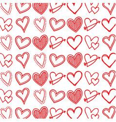 red linear love heart arrow feeling sign seamless vector image