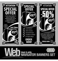 special offer banner set vector image vector image