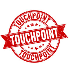 touchpoint round grunge ribbon stamp vector image
