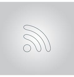 WiFi icon zone vector image vector image