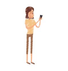 young woman cartoon icon image vector image vector image