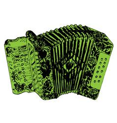 grunge retro accordion vector image vector image
