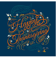 Happy thanksgiving autumn leaves background vector