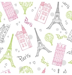 Travel Romantic Paris Streets Seamless vector image