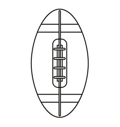 ball american football icon outline vector image