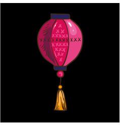 chinese lantern isolated vector image