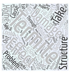 Effect of termite damage word cloud concept vector