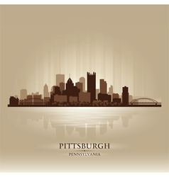 Pittsburgh Pennsylvania skyline city silhouette vector image