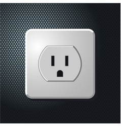 realistic electrical usa outlet on the wall vector image