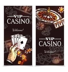 Sketch Casino Vertical Banners vector image