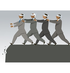 The blind leading the blind vector image vector image