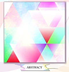 abstract background triangles vector image vector image