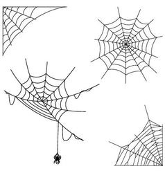 Cartoon spider web collection set vector image