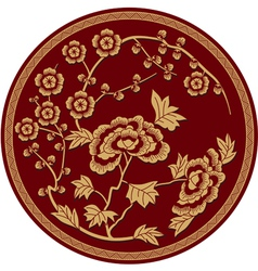 Chinese traditional floral pattern vector