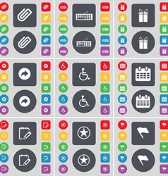 Clip keyboard gift back disabled person calendar vector