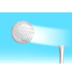 golf ball in the sky vector image