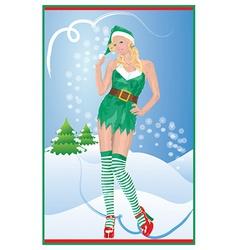 Sexy Christmas vector image vector image