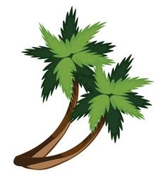 Two cartoon palms vector image
